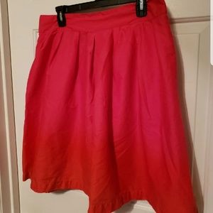 H&M pink and red skirt